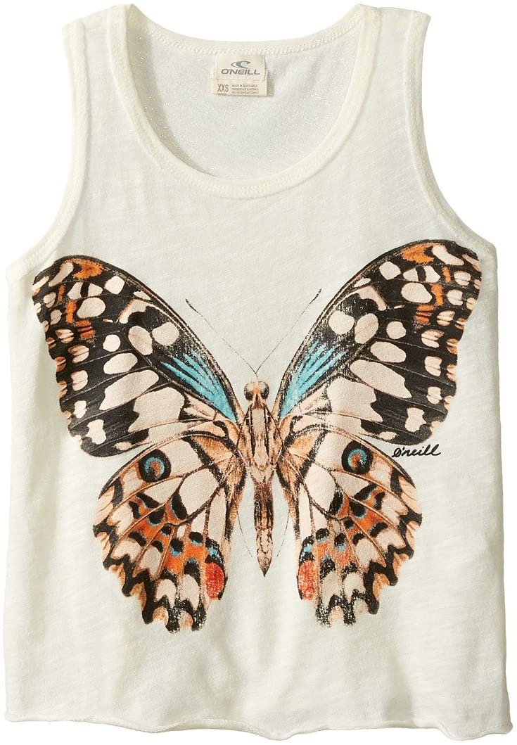 O'Neill Girls Butterfly Kisses Tank< (WWH) Winter White, Girls X-Small (5/6)