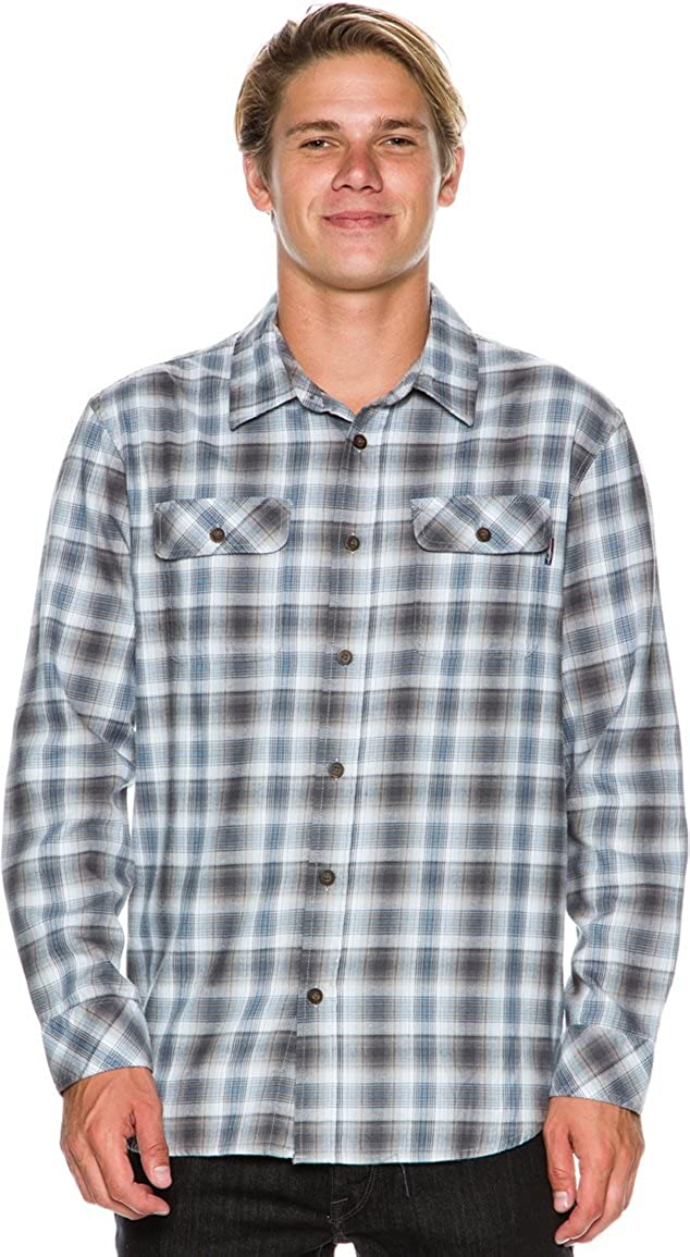 O'Neill (Jack O'Neill) Mens Durban Button Down Long-Sleeve Shirt, Blue, Size Large