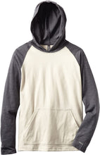 Load image into Gallery viewer, RVCA Boy's Castro Hooded Raglan, (SHT) Stone Heather, Boys Size X-Large