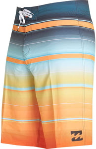 Billabong Men's All Day Stretch Boardshorts, Tangerine Stripe, Size 29 - Indi Surf