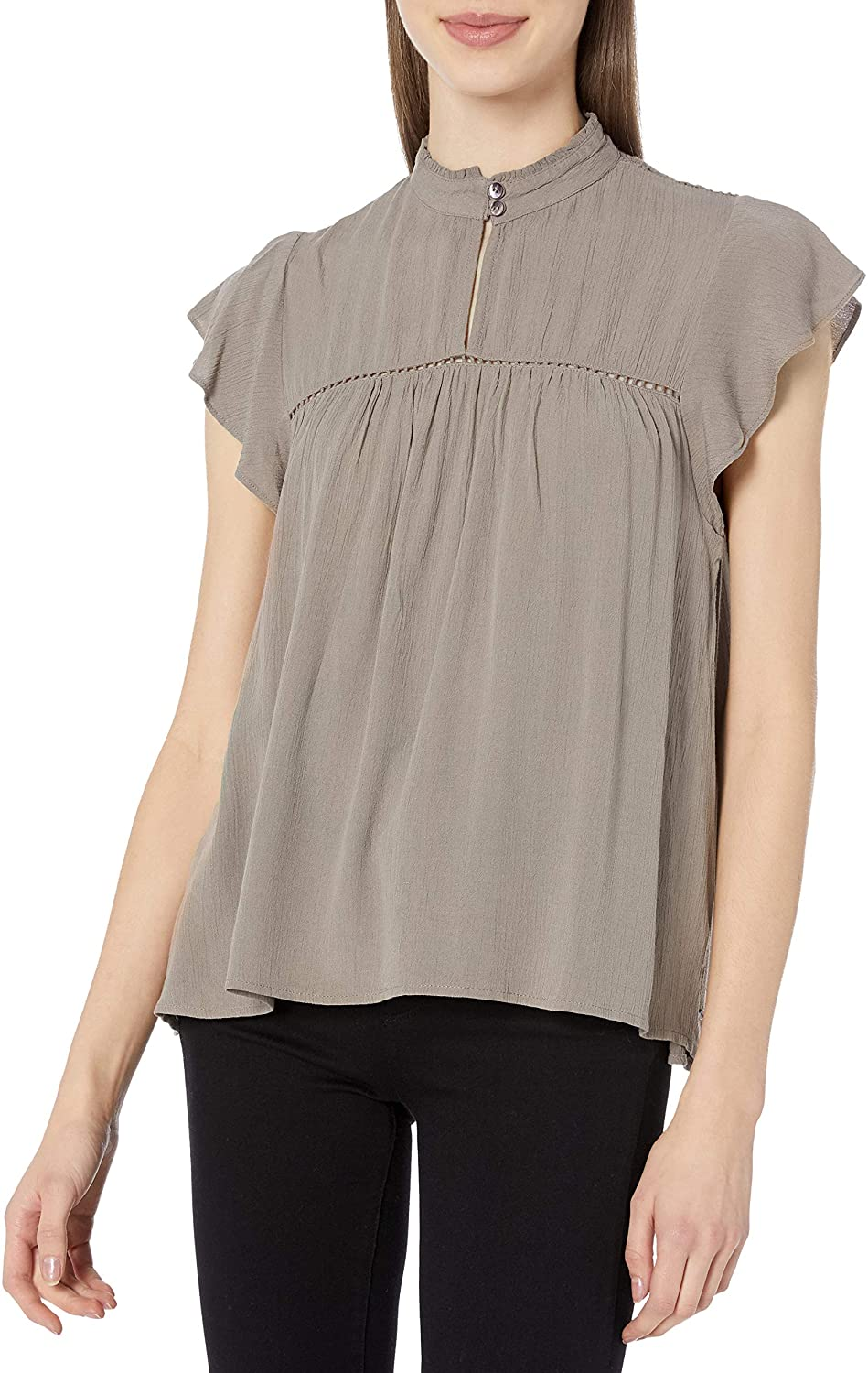 O'NEILL Junior's Chandler High Neck Top, (TAU) Taupe