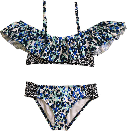 Splendid Girls -Tropic Spots Ruffle Bikini Set
