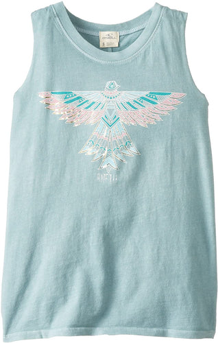 O'Neill Girls' Wild Bird Screen Tank Top, (BLO) Blue Lagoon, Girls Size Small