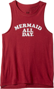 Billabong Girls Mermaid All Day Tank, (RAS) Raspberry, Girls Size Small (7/8)