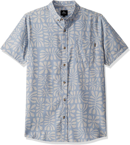 Rip Curl Men's Motion Short Sleeve Shirt, Blue