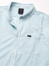 Load image into Gallery viewer, RVCA Men's That'll Do Hi Grade Button-Down Short Sleeve Shirt, (SKY) Sky Blue, Size Small