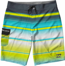 Load image into Gallery viewer, Billabong Men's All Day Stretch Boardshorts, Lime Stripe, 29