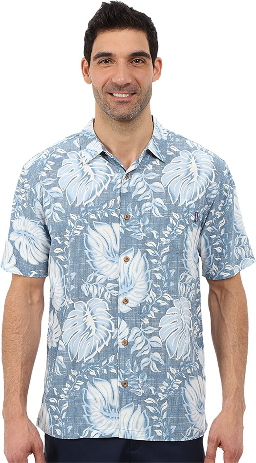 O'Neill Mens Jack O'Neill Sunset Button Up Short-Sleeve Shirt, Light Blue, X-Large