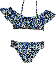 Load image into Gallery viewer, Splendid Girls -Tropic Spots Ruffle Bikini Set