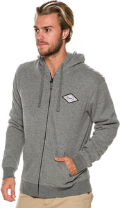 O'Neill Men's Westpoint Thermal Zip Hoodie, Heather Grey, Size Large