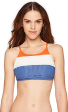 Load image into Gallery viewer, RVCA Women's July Colorblocked Crop Bikini Top