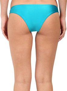 Amuse Society Women's Sara Color Block Skimpy Fit Bottom Turquiose Small