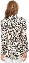 Load image into Gallery viewer, Billabong Women's Three Arch Luv Long Sleeve Buttondown Shirt, (ANI) Animal, Size Medium