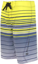 Load image into Gallery viewer, Billabong Boy's & Kid's All Day Faderade Boardshorts, (NEB) Neo Blue & (NEL) Neo Lime