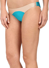 Load image into Gallery viewer, Amuse Society Women's Sara Color Block Skimpy Fit Bottom Turquiose Medium