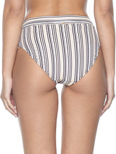 Load image into Gallery viewer, PilyQ Harbour Stripe HIGH Waist Bottom