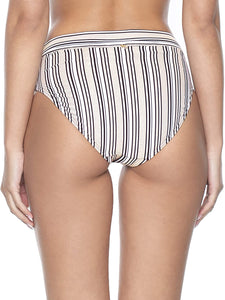 PilyQ Harbour Stripe HIGH Waist Bottom