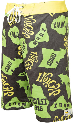 Billabong Boy's Andy Davis Island Kine Boardshorts, (BLY) Black/Yellow, Boys Size 24/8