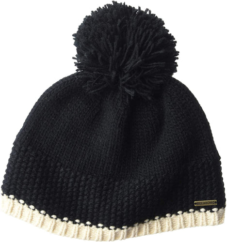 Billabong Women's Zoe Pom Pom Beanie, (BLK) Black