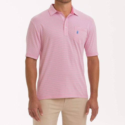 johnnie-O Men's Jack 4-Button Polo, Flamingo, XX-Large