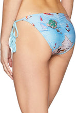 Load image into Gallery viewer, PilyQ Women's Map Print Tie Side Bikini Bottom Full Swimsuit - Indi Surf