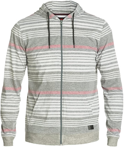 Quiksilver Men's Low Down Zip Hoodie, Grey, Size X-Large