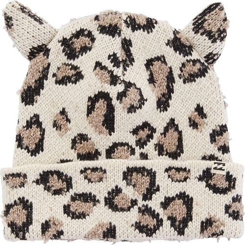 Billabong Girls' Funny Jokes Beanie with Ears, (CET) Cheetah