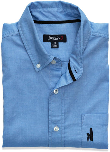 Johnnie-O Men's Murphy Button-Down Shirt, Light Blue, Size Large