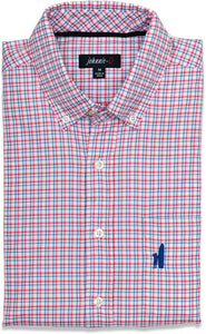 johnnie-O Men's MARSH Woven Button-Down Shirt, in PINK size M