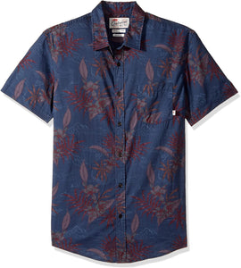 Quiksilver Men's Shark Fin Bay Button Down Shirt - Indi Surf