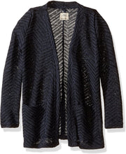 Load image into Gallery viewer, O'NEILL Girls Little Montauk Cardigan, (DKI) Dark Indigo, Girls Size Small (7)