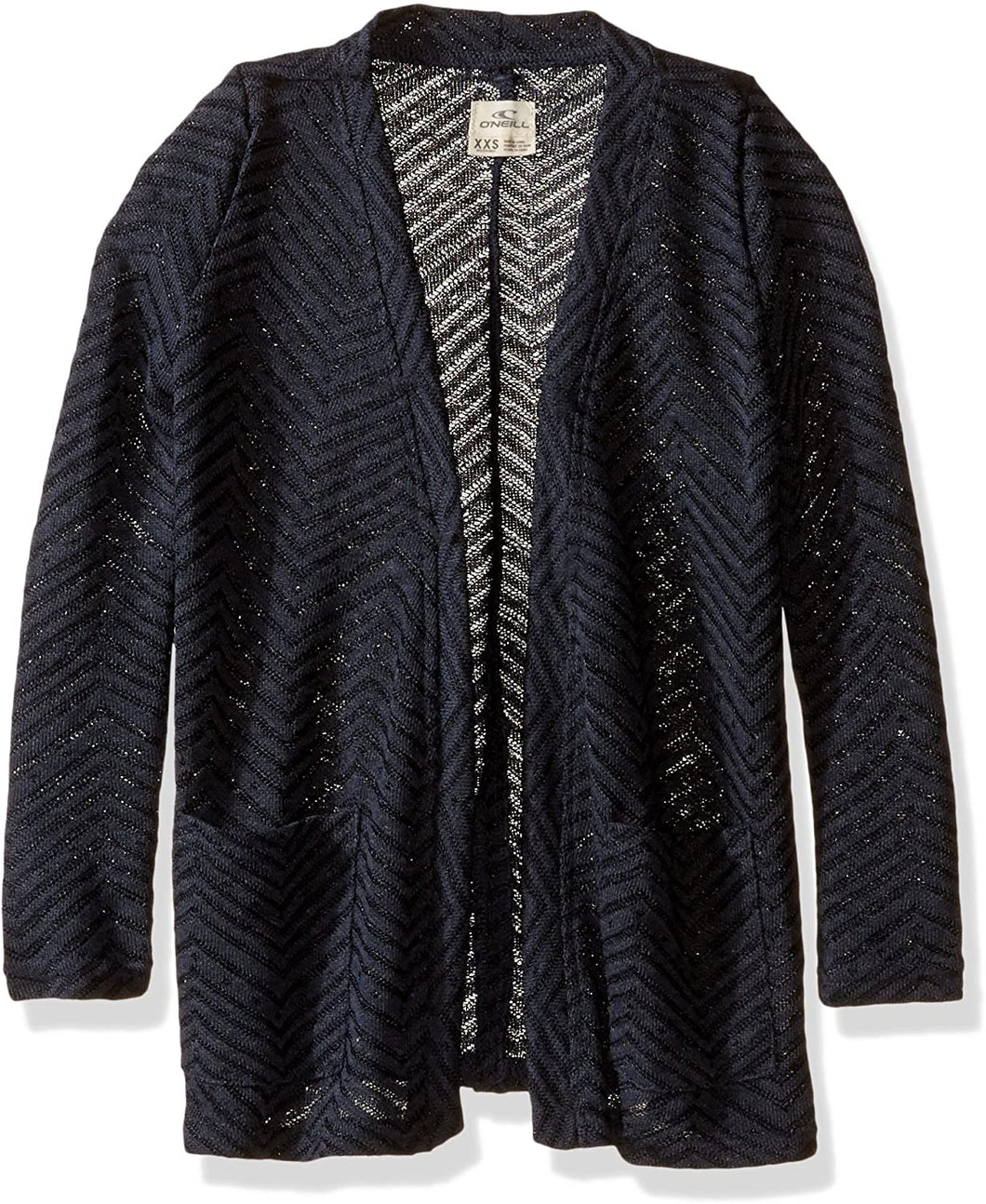 O'NEILL Girls Little Montauk Cardigan, (DKI) Dark Indigo, Girls Size Small (7)