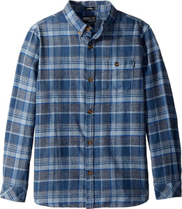 O'Neill Boy's Redmond Woven Flannel Shirt, Navy