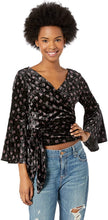 Load image into Gallery viewer, Billabong Women's Embrace It Crushed Velvet Top. Black, Size Small