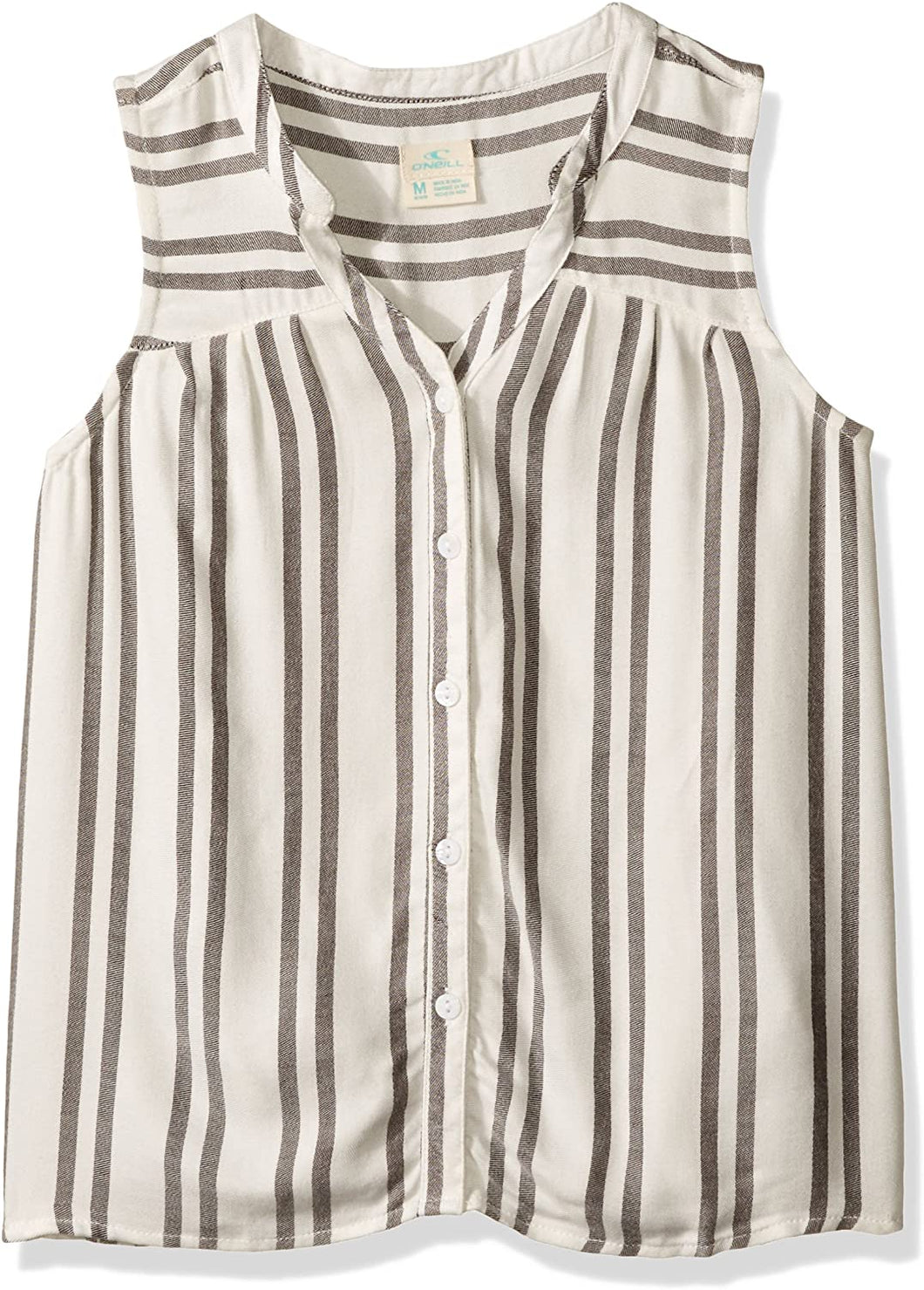 O'NEILL Girls' Big Corrine Woven Top, White, Girls Size Large