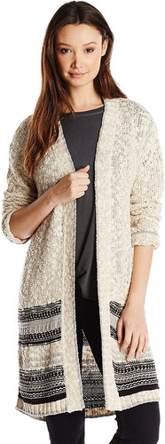 O'Neill Junior's Vander Long Boyfriend Cardigan Chunky Sweater - Indi Surf