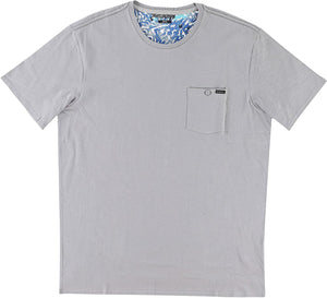 O'Neill Mens Empire Crew Short-Sleeve Shirt X-Large Light Grey