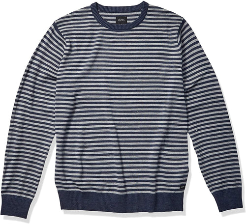 RVCA Men's Kemper Striped Knit Sweater - Indi Surf
