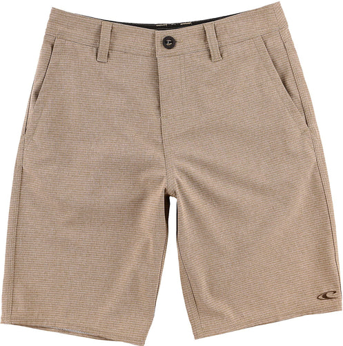 O'Neill Boy's Locked Stripe Hybrid Shorts, (MOC) Mocca