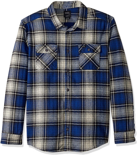 RVCA Men's High Plains Plaid Flannel - Indi Surf