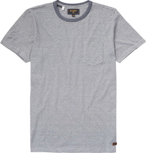 Billabong Men's Atlas Short Sleeve Crew Knit Pattern, (IND) Indigo, Size X-Large