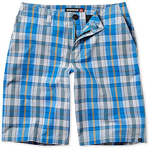 Quiksilver Boy's Bookend Shorts, Blue Plaid