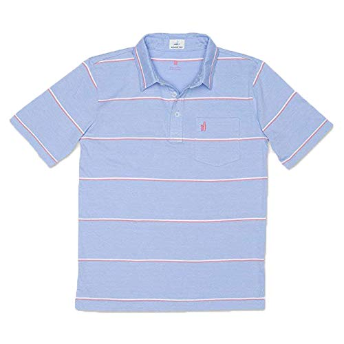 Johnnie-O Boys Marley Short Sleeve Polo Shirt, French Blue, Boys Size 12