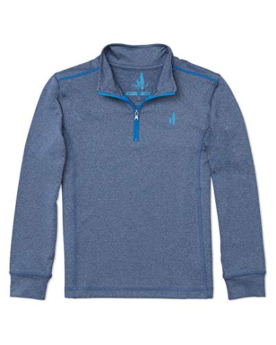Johnnie-O Boys Lammie 1/4 Zip Performance Fleece, Helios Blue, Boys Size 10