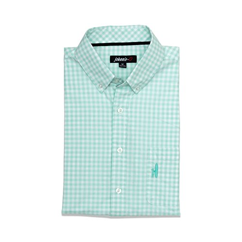 Johnnie-O Men's Marsh Button Down Shirt. Icy Mint, Size Medium