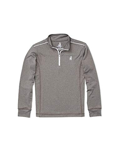 Johnnie-O Boys Lammie 1/4 Zip Performance Fleece, Meteor, Boys Size 16