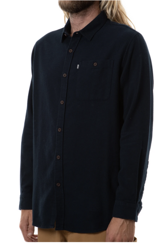Katin Men's Twiller Long Sleeve Flannel Shirt, Navy