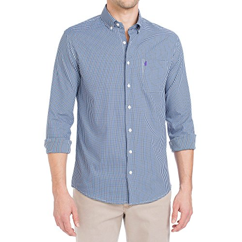 Johnnie-O Men's Augusta Long Sleeve Button Down Shirt, Abyss, Size Large
