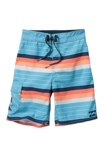 Billabong All Day OG Stripe Boardshorts, (CRL) Coral, Size 25