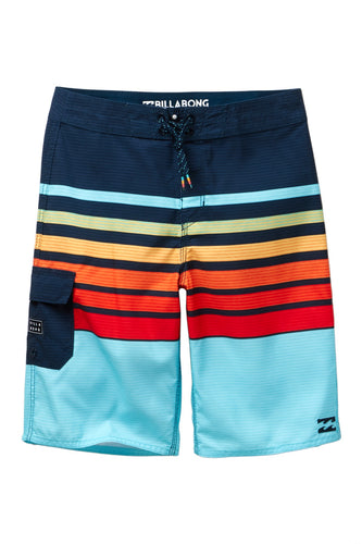 Billabong Boy's All Day OG Stripe Boardshorts, (ORG) Orange, Size 29